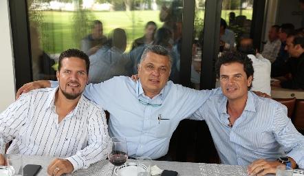Mario Ramírez, Ariel Álvarez y Eduardo Gómez.