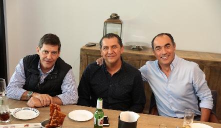 José Luis Contreras, Samuel Villarreal y Fernando López.