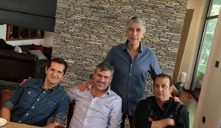Jaime Fonte, Óscar Zermeño, Sergio Godínez y Rodolfo Oliva.