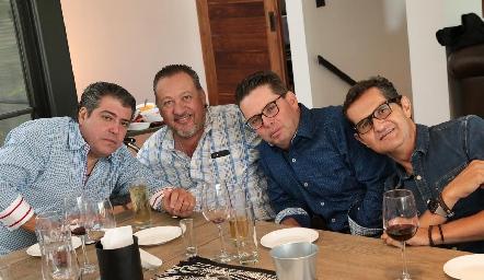 Daniel De Luna, Ramón Muñoz, Antonio Fonte y Jaime Fonte.