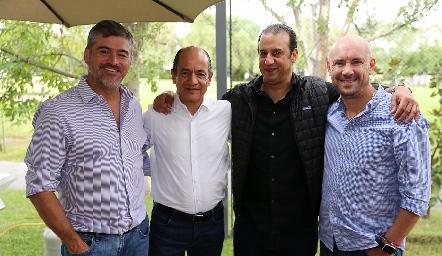 Óscar Zermeño, Elías Abud, Rodolfo Oliva y Roberto García.