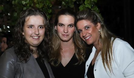 Sofía Torres, Hanni y Lilian Abud.