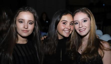 Teté Macías, Sofía Ramos y Mariel Martínez.