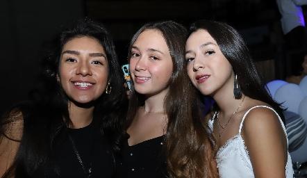 Tamara Sánchez, Montse Zarur y Jimena Rocha.