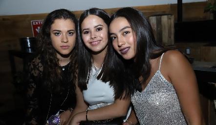 Fer Rodríguez, Fer Pruneda e Isabel.
