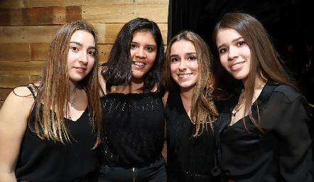 Ana Pau Garfias, Ana Fonte, Montse Humara y Marijó Bringas.