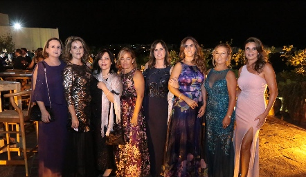 Sofía Martín Alba, Leticia Hernández, Betancourt, María Gracia Macín, Martha Zwiegger, DulceMaría Herrera, Mónica y Bertha Barragán.