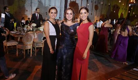 Cecilia Dávila, Alejandra Martínez y María José Alonso.
