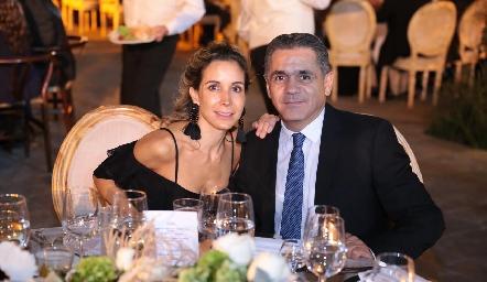 Sofía Cázares y Mauricio Abud.