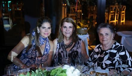 Martha Elena Díez Gutiérrez, Perla Díez Gutiérrez y Perla Gómez de Díez Gutiérrez.