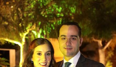 María Nelly Domínguez y Sergio Madrigal.
