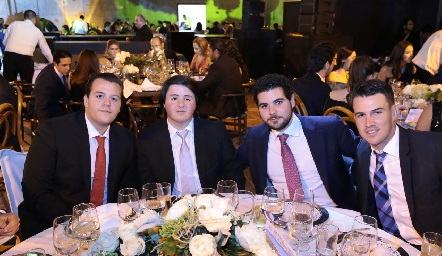 Francisco Alonso, Jorge Aldrett, Chino de la Garza y Poncho Anaya.