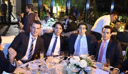 Alfonso Anaya, Diego Tobías, Rubén Torres y José María González.
