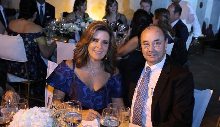 Martha Elena Muñiz y Fernando López.