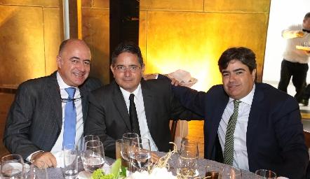 Rafael Olmos, Gerardo Rodríguez y Paco Leos.