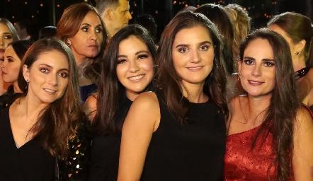 Nallely Maya, Yusa de la Rosa, Eugenia Musa y Jessica Medlich.