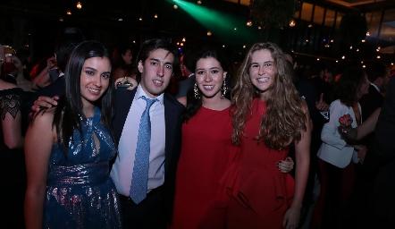 Alejandra Mata, Rubén Torres, Montse Del Valle e Inés García.