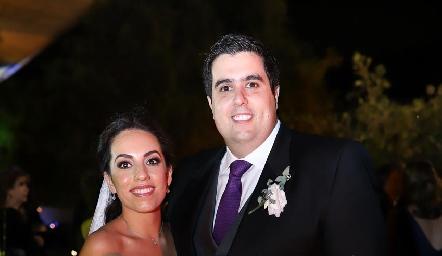 Alejandra Zepeda Rojas y José Carlos Mahbub Martínez ya son esposos.
