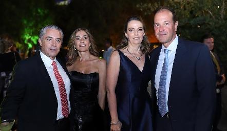 Gerardo Serrano, Mónica Gaviño, Charo Valladares y Oscar Gaviño.