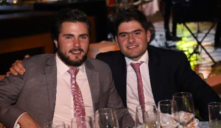Rodrigo Galán y Antonio Esper.
