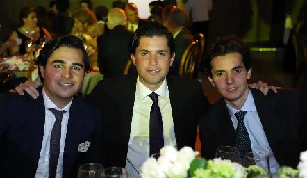 Javier Gómez, Gerardo Serrano y Armado Lasso de la Vega.
