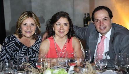 Tere Lastras, Carmen Faz y José Rosillo.