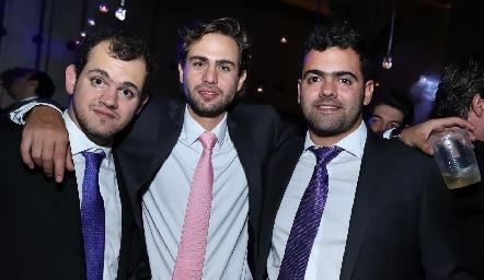 Elías Abud, José Miguel Morales y Juan Pablo Abud.