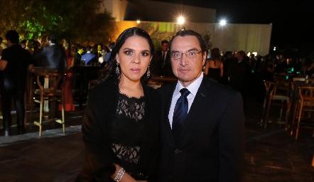 Marcela Reyna y Sergio Palomino.