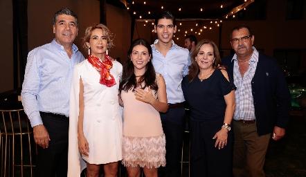 Rafael Tobías, Isabel Carrillo de Tobías, Cristy Lorca, Rafa Tobías, José Lorca y Laura Álvarez de Lorca.