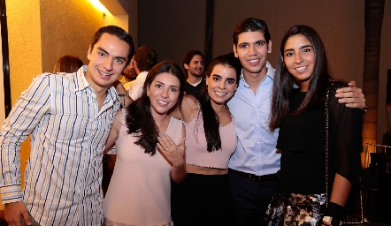 Emilio Payán, Cristy Lorca, Marily, Rafa y María Paula Tobías.