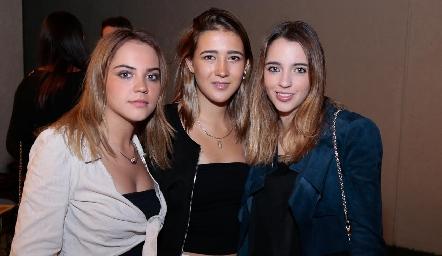 Paula Gómez, Laura Pelayo y Ana Pau de los Santos.