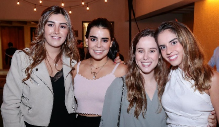 Ana Gaby Motilla, Marily Tobías, Ana Lucía Esparza y Pía Gómez.