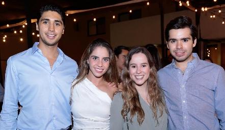 Andrés Tobías, Pía Gómez, Ana Lucía Esparza y Rodrigo Pérez.