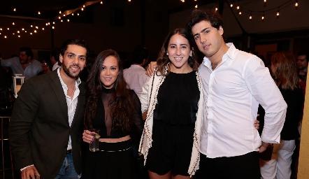 José Lorca, Daniela Echenique, Diana Olvera y Gabriel Torres.
