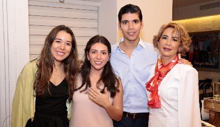 Michelle Cano, Cristy Lorca, Rafa Tobías e Isabel Carrillo.