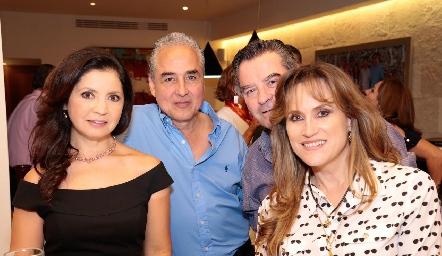 Martha Carrillo, Juan Manuel Rocha, Guicho Ortuño y Anna Lilia Von Der Meden.