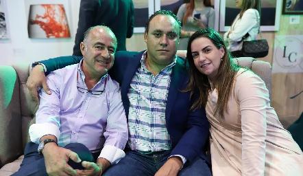 Rafael Olmos, Francisco Torres y Maripepa Muriel.