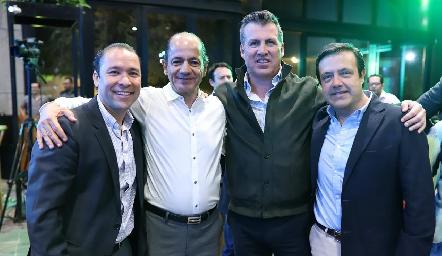 José Ramón Martínez, Elías Abud, Alfonso Anaya y Juan Carlos de la Rosa.