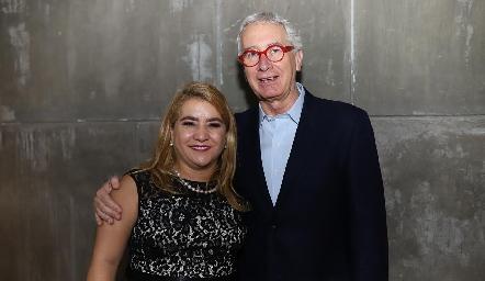 Con el periodista Javier Solórzano.