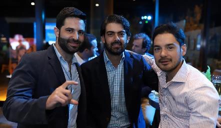Alejandro Mejía, Roberto Abud y Miguel Torres.