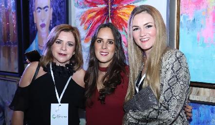 Marisol Diegues, Claudia Antunes y Luz María Arellano.