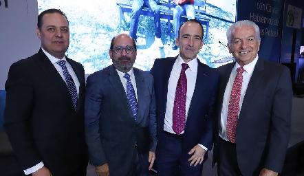 José Manuel Guerra, José Mario de la Garza, Ernesto López Clareón y Carlos Quintanilla.