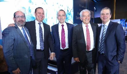 José Mario de la Garza, José Manuel Guerra, Ernesto López Clareón, Carlos Quintanilla y Alejandro Martínez.