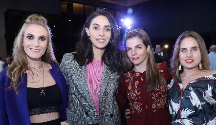 Carla Huber, Adri de la Maza, Pilar Palomar y Nuria Alcalde.