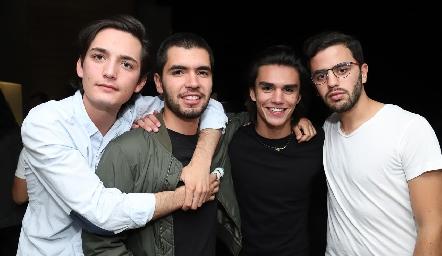 Sebastián Martínez, Juan Pablo Quintero, Jaime Ruiz y Diego Zepeda.