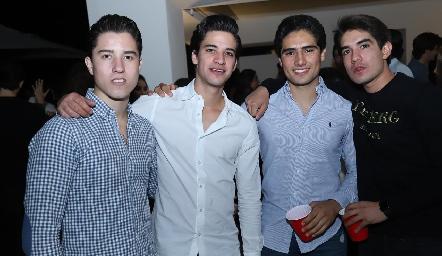 Santiago Sánchez, Diego Reverte, Pablo Ortiz y Chema Rodríguez.