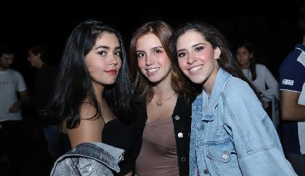 Ana Paula Lafuente, Gris Torres y Vane Correa.