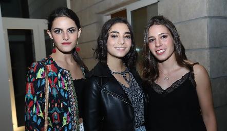 Ana Cecilia Labarthe, Isabela Stevens y Fernanda Del Valle.