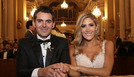 Daniel Dauajare y Martha de la Rosa ya son esposos.