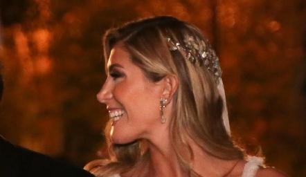 La hermosa novia Martha de la Rosa.